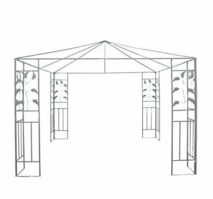 Outsunny 10'x10' Outdoor Patio Gazebo Stand Steel Frame Canopy Cover Leaf Design