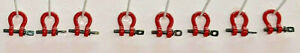 55Ton Lifting Shackle All Metal In Red Set Of 10 . 1 50th 1 48th. $38.95