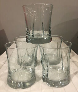 VINTAGE Barware 10 oz On-the- Rocks Lowball Clear 5-Piece Set