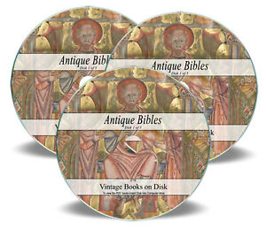 The Bible Rare Ancient Antique on 3 CDs Old Douay Rheims Coverdale Psalter 79 GBP 3.99