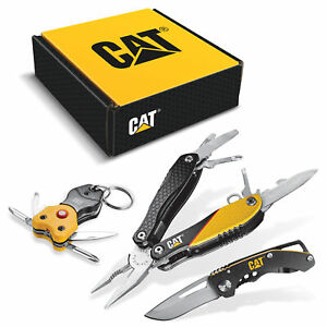 Cat 3 Piece Multi-Tool and Pocket Knife Gift Set Box - 240192