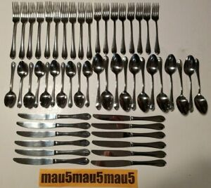 52 pcs Wallace WAS216 Stainless Center Ridge WAS 216 Flatware Set Fork Spoon