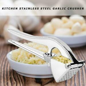Garlic Press Crusher Squeezer Masher Slicer Cutter Grater Home Kitchen Accessory