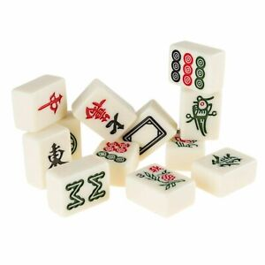 Chinese Mahjong Game Set 144 Tiles in Ornate Case 1.25 x .75 Inch Tiles $29.99