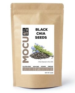 3 LB 100% PURE PREMIUM BLACK CHIA SEEDS VEGAN GLUTEN FREE Non GMO GROWN ORGANIC