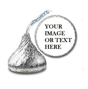 108 Custom Personalized Labels Stickers Hershey#x27;s Kisses Candies Party Favors $2.97