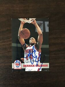 Derrick Coleman ON CARD AUTO w # 44 1993 1994 NBA Hoops Signed In Person