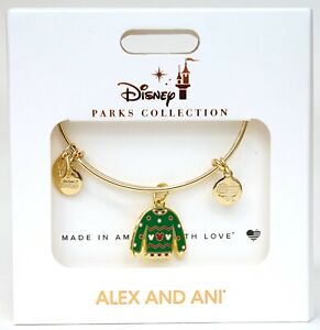 NEW Disney Alex And Ani Ugly Holiday Christmas Sweater Gold Bangle Bracelet $19.95