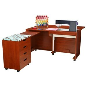 Arrow Laverne amp; Shirley Sewing Cabinet and Caddy in Teak $1799.00