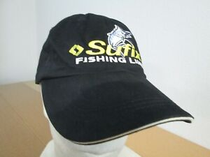 Vintage Sufix Fishing Line Marlin Deep Sea Hunting Hiking Strapback Dad Hat