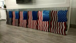 Large American flag Steel wavy Metal wall Sculpture Wall Art Contemporary decor $225.00