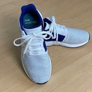 Adidas Equipment ADV 91 17 EQT Support Running Shoes Size 11.5 White Blue NICE $51.60
