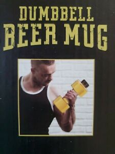 Fitness Gag Gift Dumbbell Beer Drinking Party Mug New Novelty