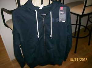 NWT WOMENS SZ EXTRA SMALL UNDER ARMOUR ZIP UP HOODY $20.99