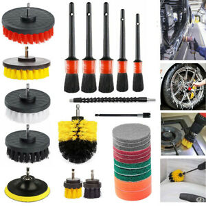 21x Drill Brush Attachment Set Power Scrubber Cleaning Kit Combo Scrub Tub Clean