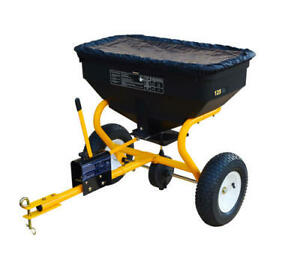 125 lbs Tow Behind Broadcast Spreader ATV Garden Tractor Fertilizer Spreading