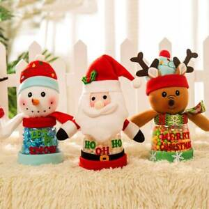 Santa Claus Candy Jar Storage Tank Gift Merry Christmas Christmas Decoration CF