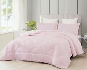 Nebulous Pink 3pc Comforter Set Sherpa Borrego Blanket Bedding Bedding Bed Cover