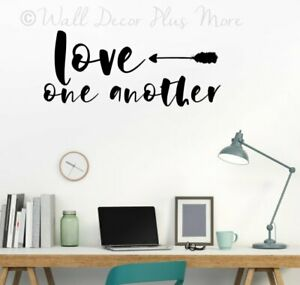 Love One Another with Arrow Art Wall Sticker Vinyl Letters Decals Home Decor