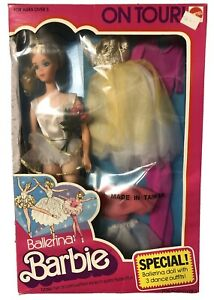 RARE Vintage 1976 BALLERINA BARBIE ON TOUR_3 Bonus Outfit Gift Set _9613_NRFB