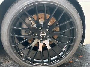 MRR Design HR6 Matte Black 22' rims with or without Hub-centric 1' adapters