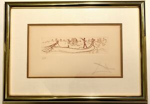 Salvador Dali Signed quot;Visions Of Venicequot; Etching Artist Proof $765.00
