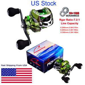 181BB Bearing Casting Fishing Reel 7.2:1 Fishing Tackle Left Right Hand Metal $29.90