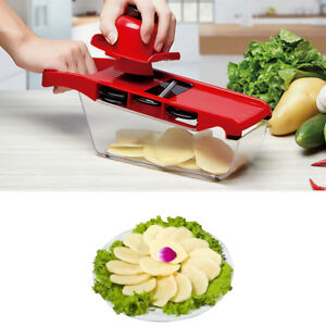 6 Blades Vegetable Cutter Mandoline Slicer Grater Dicer Tool Easy to Use