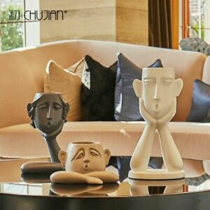 Modern Statues Abstract Figures Ornaments Personality Sculptures Home Decor $136.39