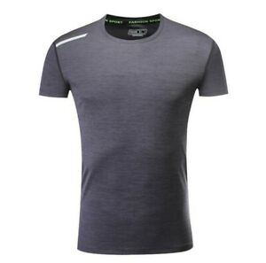 Sport Mens Gym Running T Shirts Quick Dry Stretch Fitness Muscle Dress Tee Tops $26.82