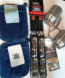 Camping Cooking Lot Outdoors BBQ tank level guage stainless mugs sausage griller