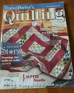 QUILTS FONS AND PORTER#x27;S LOVE OF QUILTING MAGAZINE $9.03