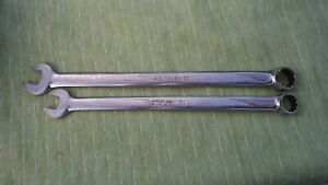 SNAP ON Long Combination Wrench SET OF 2  OEXL series  5/8¨  9/16¨