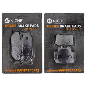 NICHE Brake Pad Set Yamaha Seca II 600 4BP W0045 00 00 Complete Semi Metallic