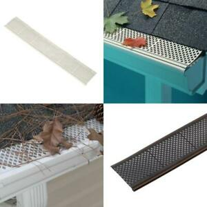 Snap In Filter Gutter Guard 3 ft. Roof Gutters Cover Leaf Debris Protect Screen $10.99