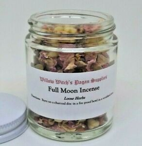 Full Moon Incense loose herbs blend small Hoodoo Voodoo Vodou Wicca Witchcraft