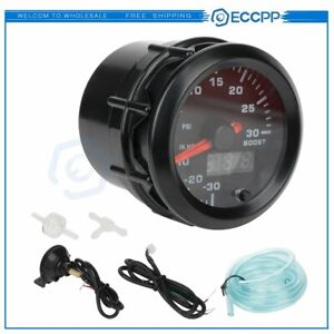 7 Color 2 52mm Car Turbo Boost Gauge Pointer Digital LED Pressure Meter