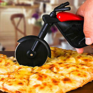 Stainless Steel Motorcycle Pizza Cutter Pizza Cake Slicer Kitchen Gadget