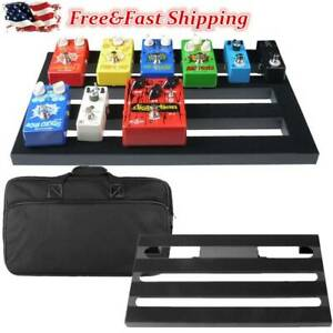 Large Metal Guitar Pedal Board 19.7quot; x 11.4quot; with Carrying Bag Self Adhesive $59.99