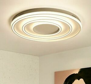 Stainless Circle Ceiling Lights LED Plated Ironware Acrylics Modern For Bedrooms $692.99