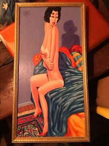 Original Modern Art Oil Painting Nude Woman Jeff Jordan The Mars Volta $1999.99