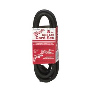 Milwaukee 48-76-4008 Quik-Lok 8' 3 Wire Grounded Cord