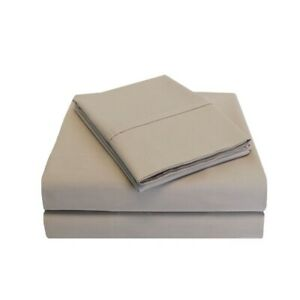 3-pc Twin Tan Percale Soft 100% Cotton Sheet Set 300 Thread Count