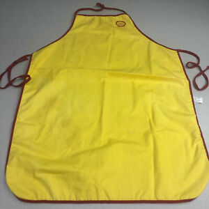Vintage Shell Apron One Size Yellow Halter Neck Tie Back Kitchen Cooking