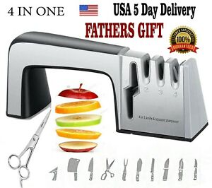 Knife Sharpener Tool  4 in 1 Scissors Choppers etc.