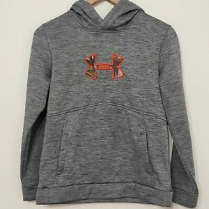 Under Armour Boys Real Tree Camo Hoodie Sweatshirt, sz L $18.75