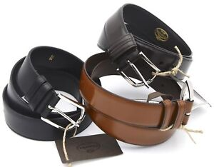 CHURCHS MAN BELT 100% LEATHER CASUAL FREE TIME CODE CT0007 $135.23