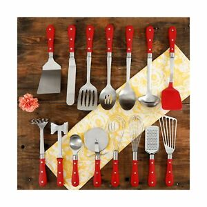 The Pioneer Woman Frontier Collection 15-Piece All in One Kitchen Utensil Set...