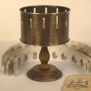 Classic Brass Zoetrope Optical Toy Replica Zootrope Wheel of Life Animation