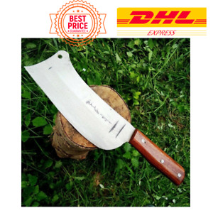 Chef Clever Cook Knives Steel Chopper Bone Knife Wooden Handle Kitchen Blade 7